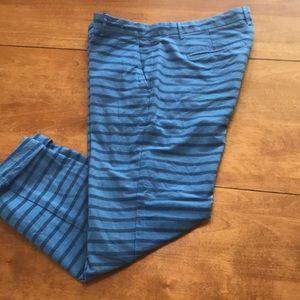 GAP Striped, broken-in khaki's